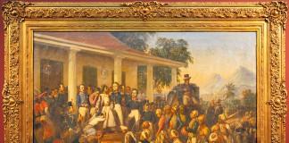 Lukisan Penangkapan Pangeran Diponegoro karya Raden Saleh