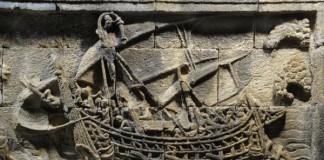 panel kapal candi Borobudur