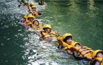 Body Rafting di Green Canyon