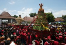Gunungan yang diarak pada upacara Garebeg Kesultanan Yogyakarta