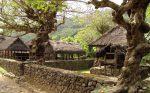Pola perkampungan beserta bentuk bangunan dan pekarangan di Desa Tengenan yang masih megikuti aturan turun-temurun.