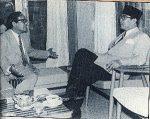 Friedrich Silaban berbincang dengan Presiden Sukarno.