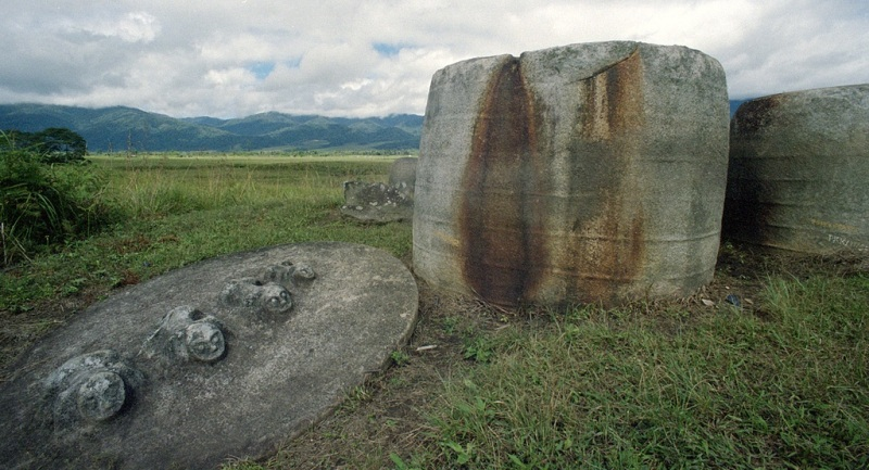 Kalamba di Situs Megalitik Pokekea di Lembah Behoa, Desa Hangira, Kecamatan Lore Tengah, Kabupaten Poso, Sulawesi Tengah