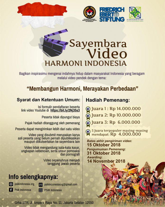 Pengumuman Sayembara Video Harmoni Indonesia 2