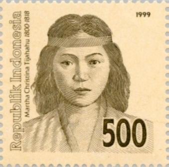 Prangko bergambar Martha Christina Tiahahu. (Foto: wikipedia)
